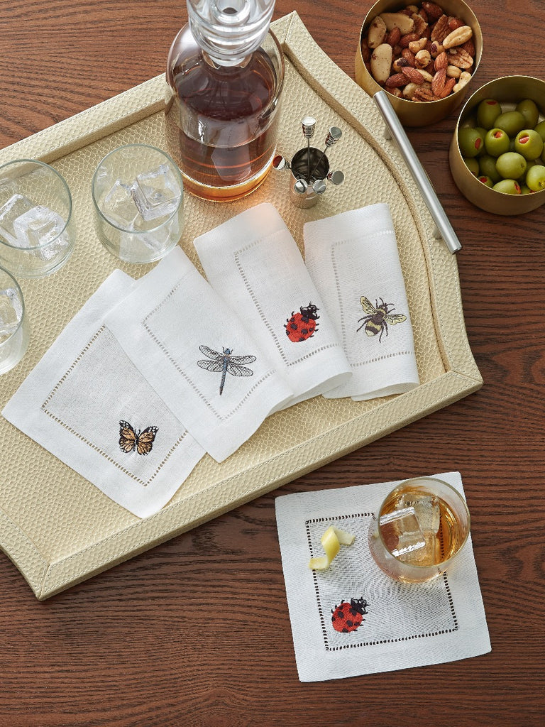 Sferra Insetti Cocktail Napkin Set