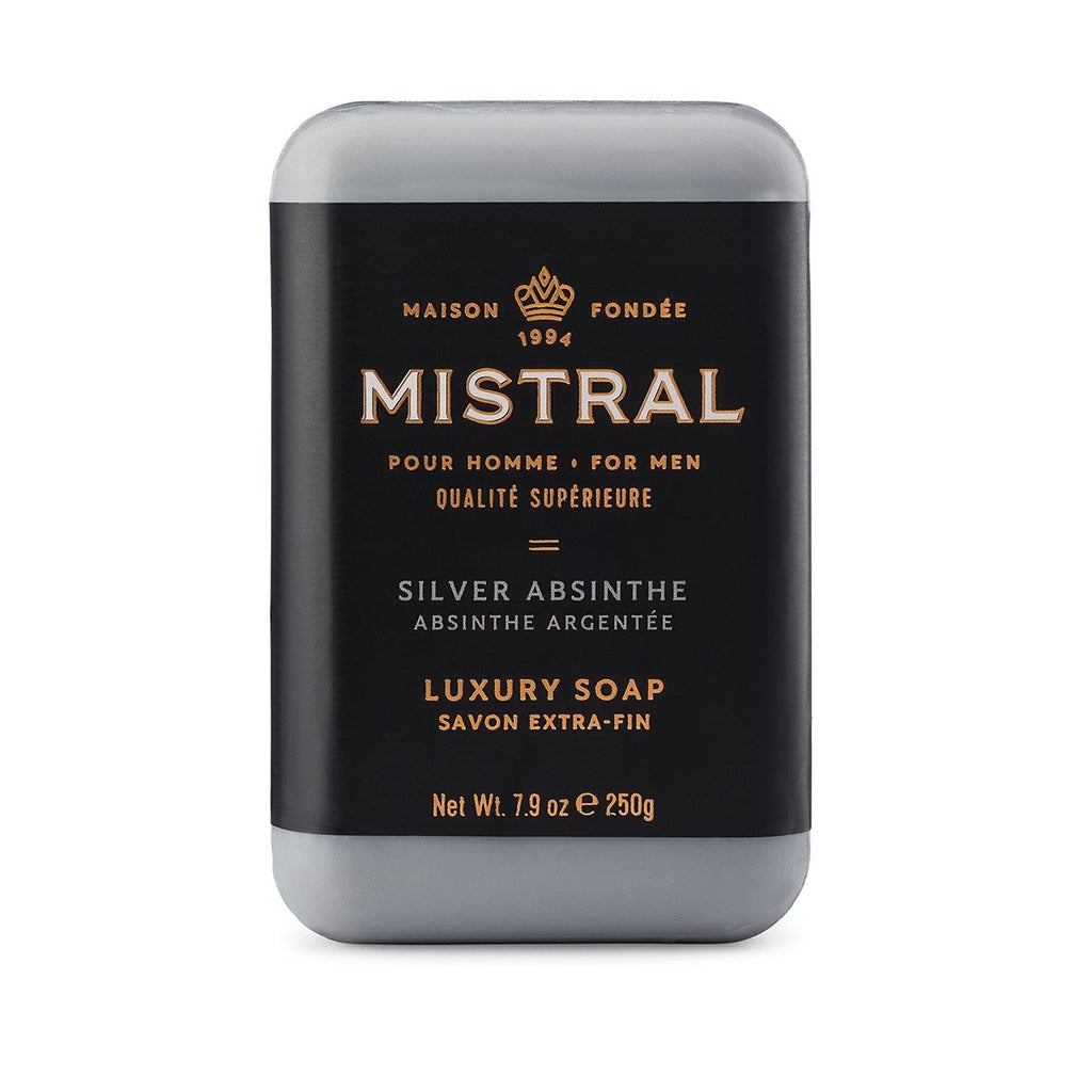 Mistral Silver Absinthe Men's French Triple Milled Soap