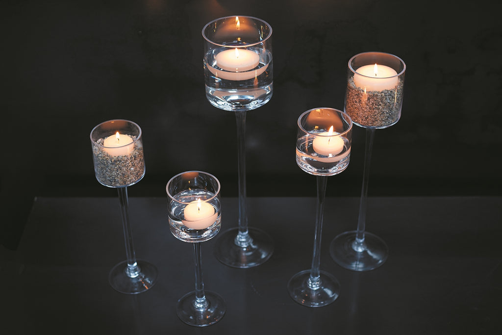 Monet Glass Candleholder