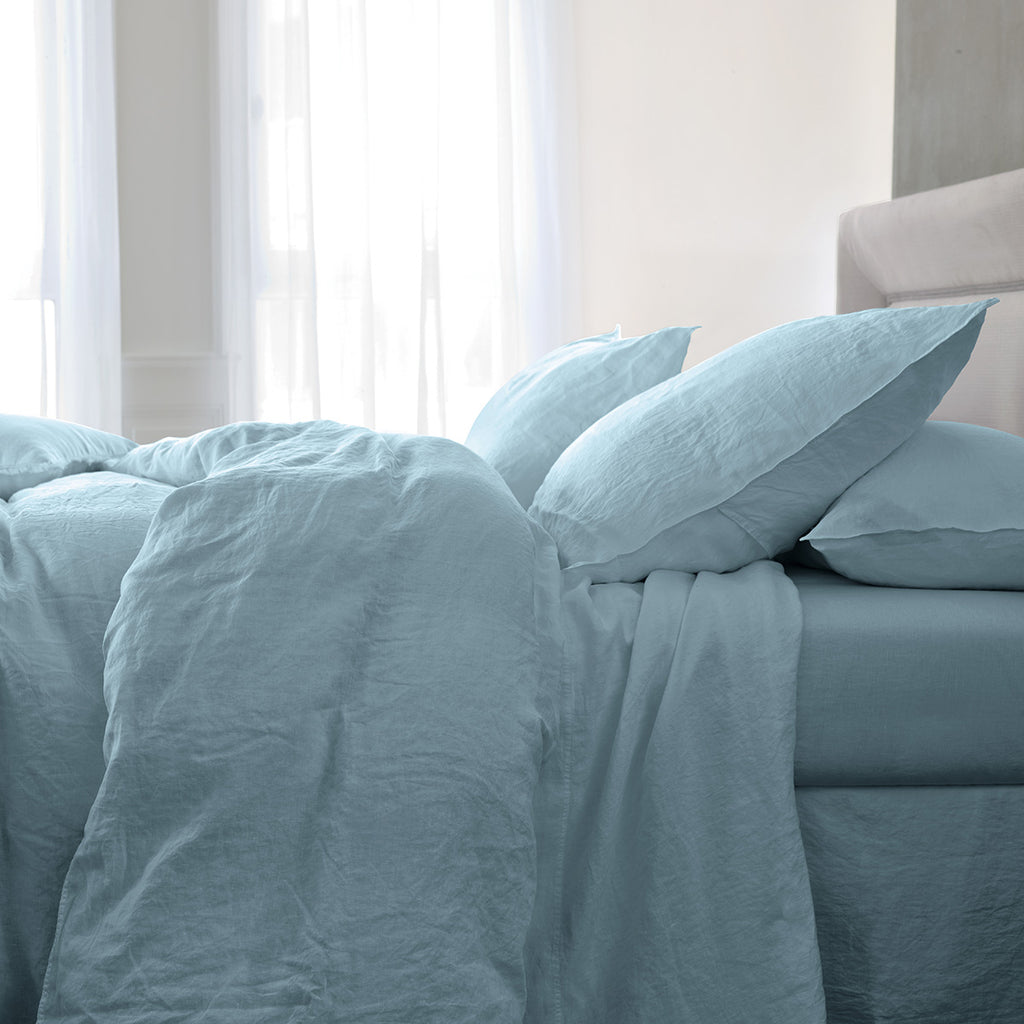 Yves Delorme Originel Linen Bedding Collection Ocean Blue