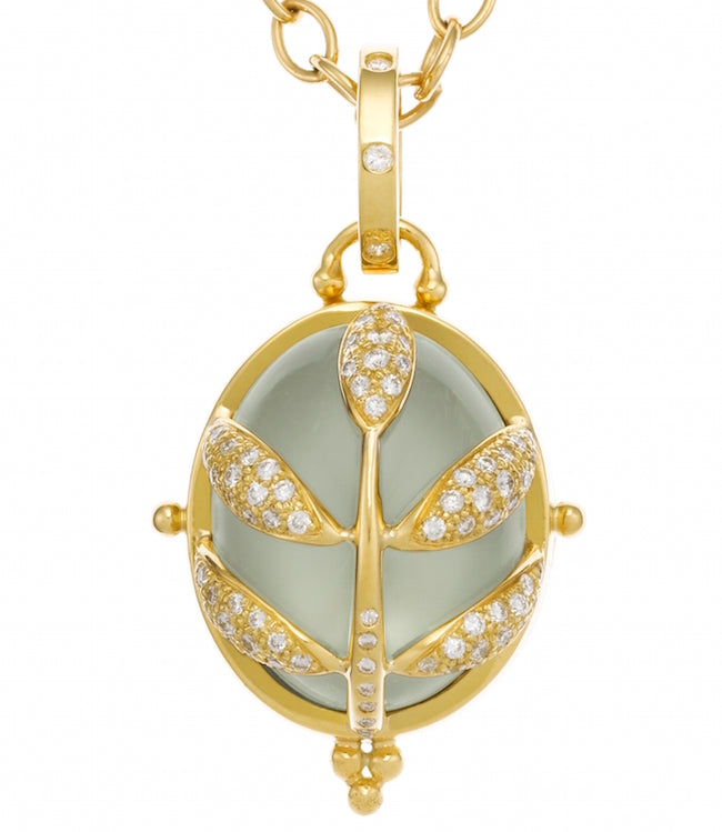 Temple St. Clair 18K Pavé Vine Locket Pendant