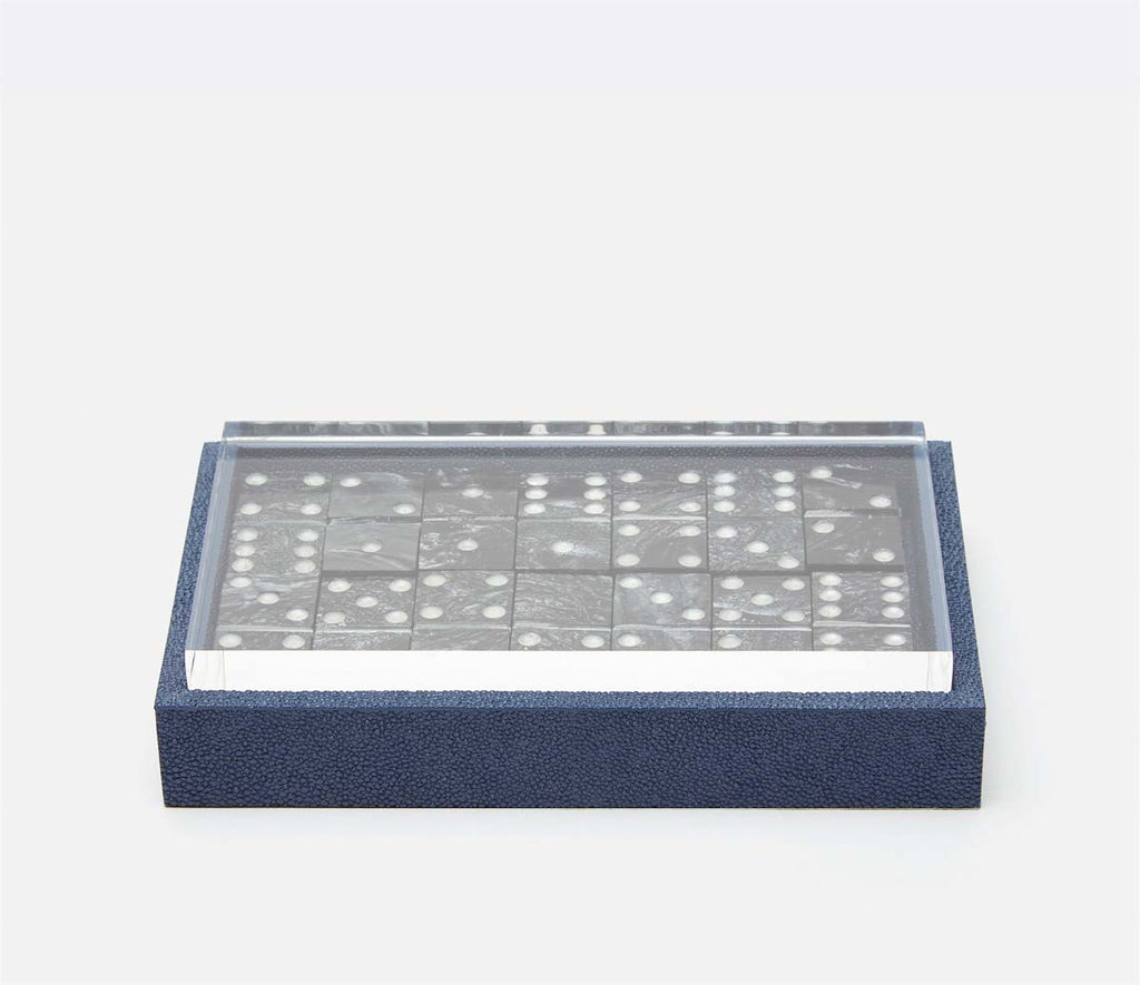 PIgeon & Poodle Treviso Navy Faux Shagreen Domino Set
