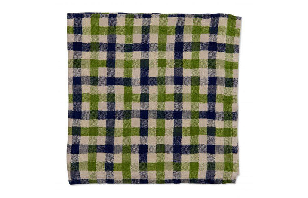 Checkerboard Napkin - Navy