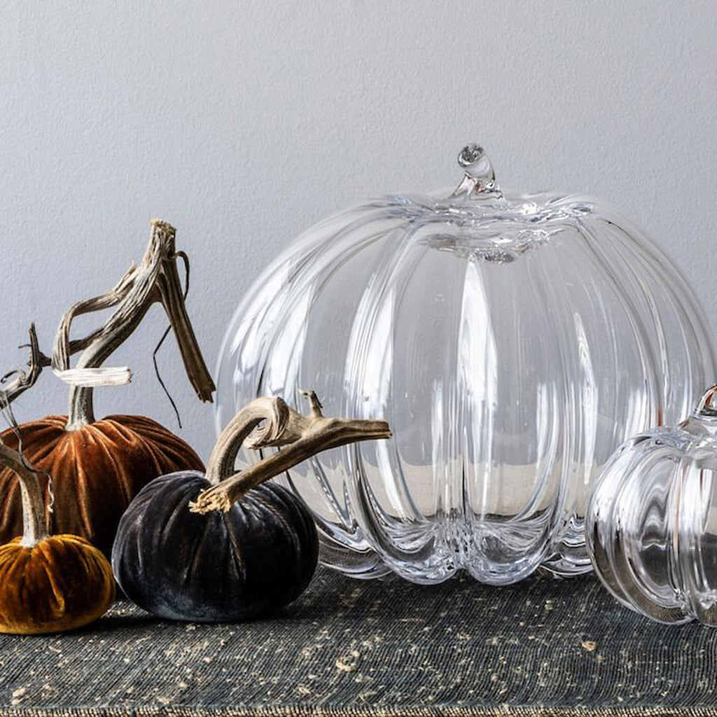 Simon Pearce Glass Pumpkin Collection