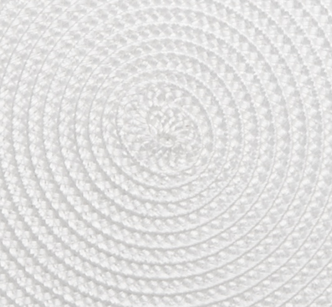 Deborah Rhodes Linen Braided Placemat - White