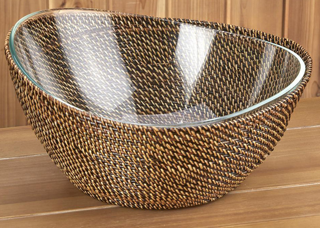 Woven Crescent Serving Bowl