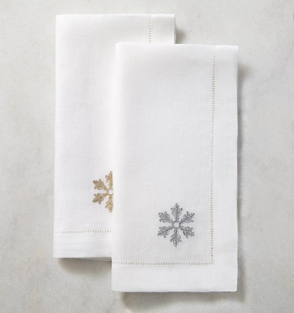 Frost Holiday Linen Napkin