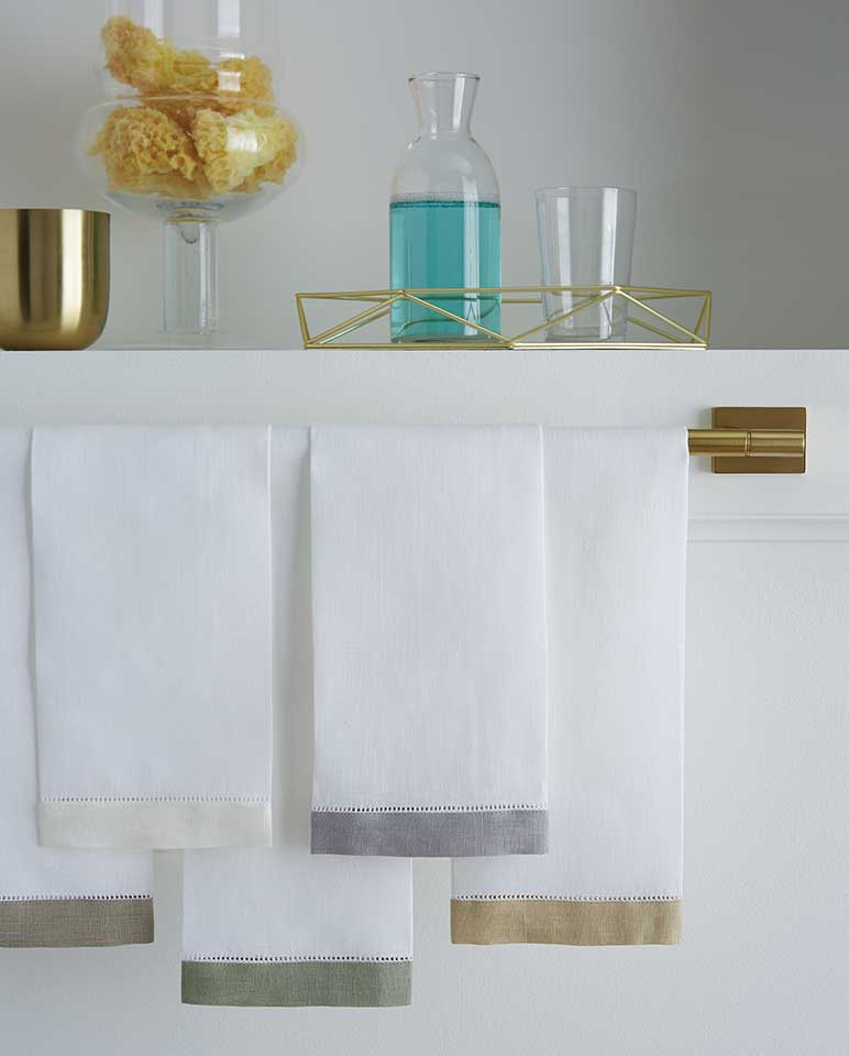 Sferra Filo Guest Towel - Set of 2