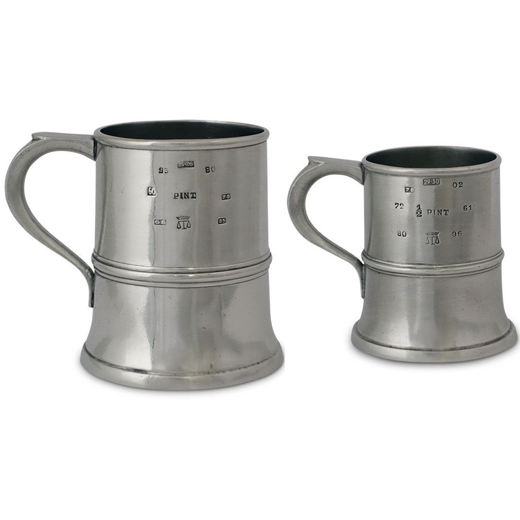 Match Pewter Tankard Pint & Half Pint