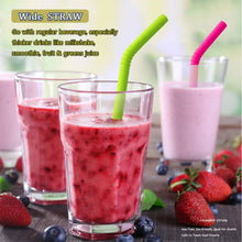 Load image into Gallery viewer, Reusable Silicone Drink Straws (Set 6 pcs)