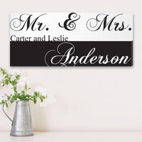 Personalized Mr. & Mrs. Canvas Print - Xtreme Designs