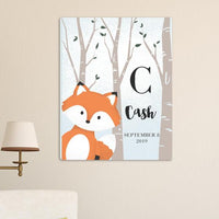"Personalized Woodland Animal Canvas 18""x24"" - Xtreme Designs"