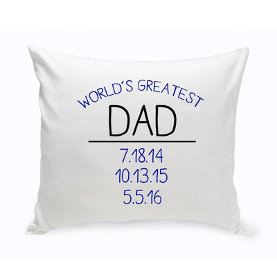 World's Greatest Dad Throw Pillow - Xtreme Designs
