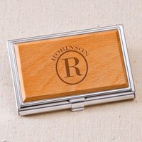 Monogrammed Wood Business Card Case - Xtreme Designs