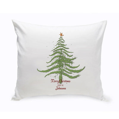 Personalized Vintage Christmas Throw Pillow - All - Xtreme Designs