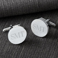 Personalized Cufflinks - Classic - Round - Monogram - Xtreme Designs