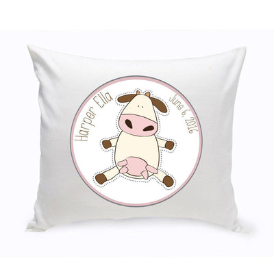 Personalized Baby Nursery Throw Pillow - Fun Cow - Xtreme Designs