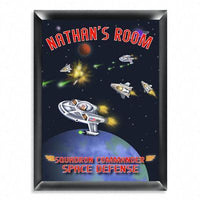 Personalized Kid's Room Sign - Space - Xtreme Designs