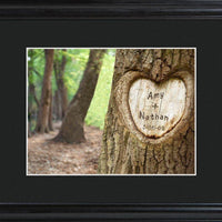 Personalized Wall Art - Tree of Love - Framed - Anniversary Gifts - Xtreme Designs