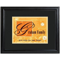 Personalized Orange Family Name Frame - Xtreme Designs