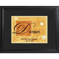 Personalized Orange Couple's Name Frame - Xtreme Designs