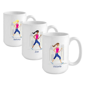 Personalized Go-Girl Coffee Mug - Runner - Xtreme Designs