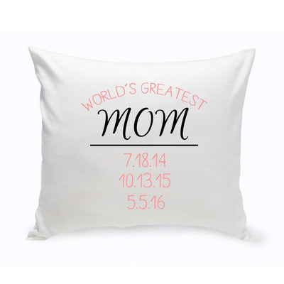 World's Greatest Mom Throw Pillow - Xtreme Designs
