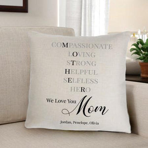 Mother Home Decor Personalized Throw Pillow - Xtreme Designs