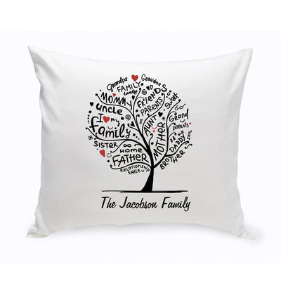 Personalized Family Roots Throw Pillow - Xtreme Designs