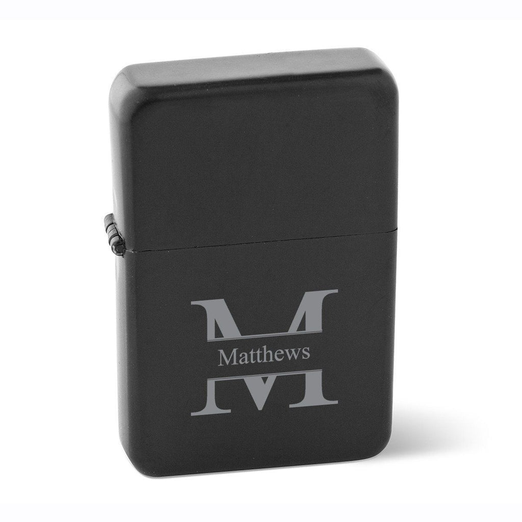 Personalized Lighters - Wind Proof - Matte Black - Groomsmen Gifts - Xtreme Designs