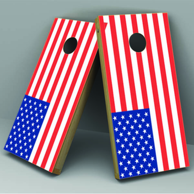 USA Flag Cornhole Board Vinyl Decal Wrap - Xtreme Designs