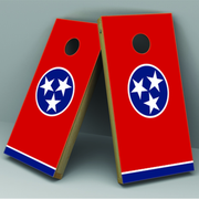 Tennessee Flag Cornhole Board Vinyl Decal Wrap - Xtreme Designs