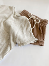 Load image into Gallery viewer, Ribbed Cotton Shorts - Cappuccino