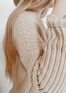 Stone - Women's Chunky Knit Sweater