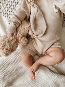 'Oat' Sprinkle Knit Playsuit