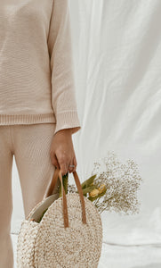 Women's Nude Beige Knit Sweater