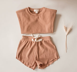Everyday Basic Waffle Knit Short - Claypot
