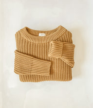 Load image into Gallery viewer, Wheat - Women's Chunky Knit Sweater