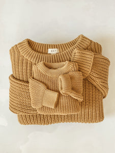 'Wheat' Chunky Knit Pullover