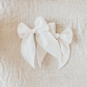 Ivory Linen Bow