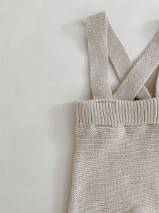 'Natural' Knit Suspenders
