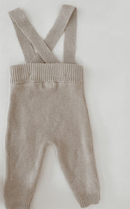 'Taupe' Knit Suspenders