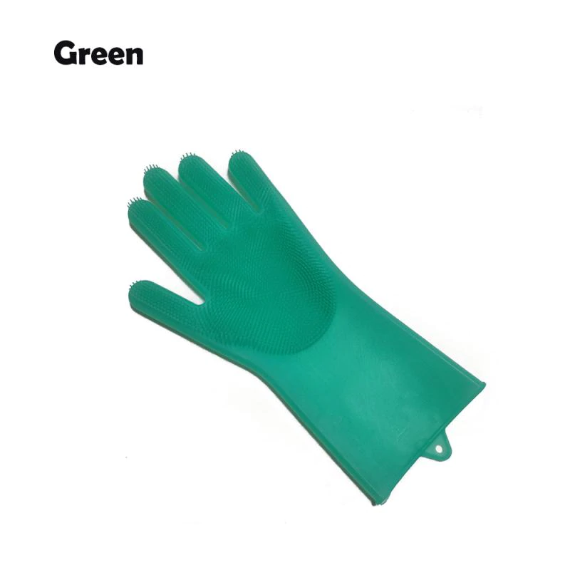 2 in 1 Silicon Dish Scrubber Gloves