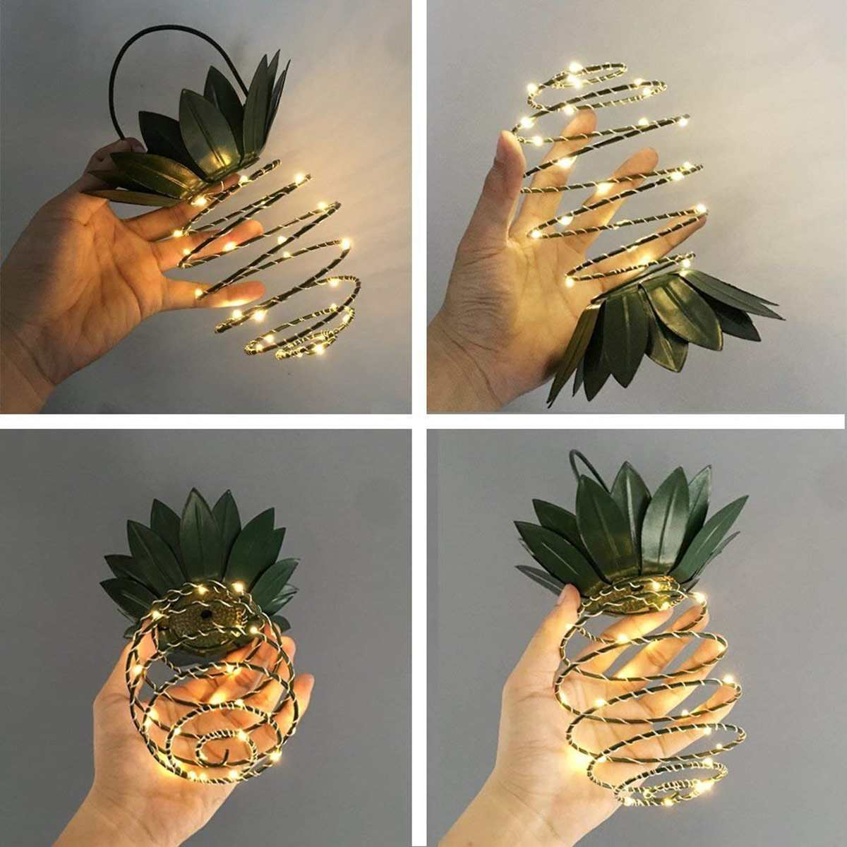 Solar Powered LED Pineapple Light