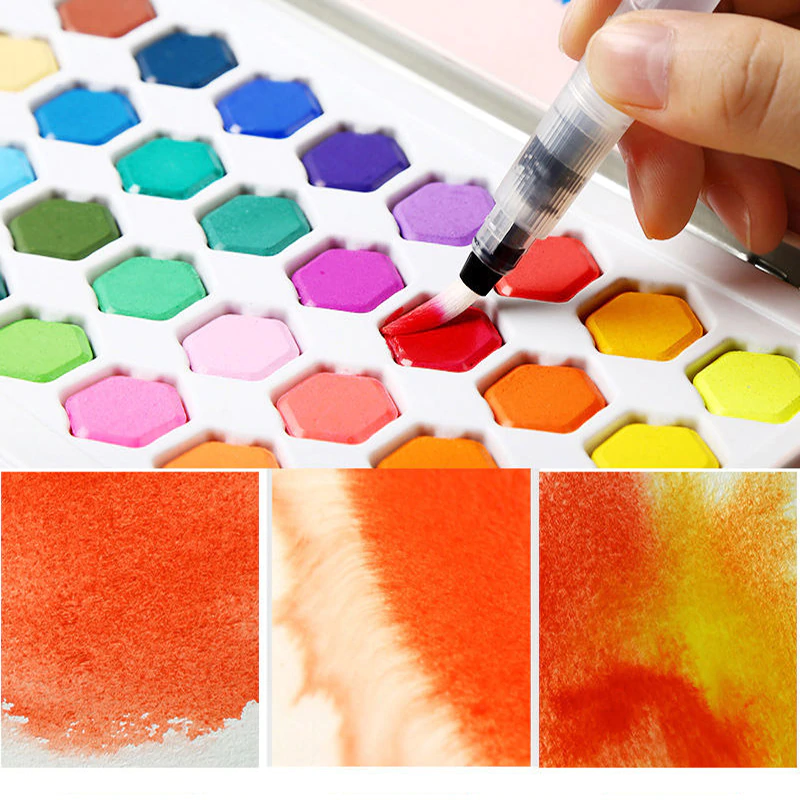 36 Color Watercolor Paint Set