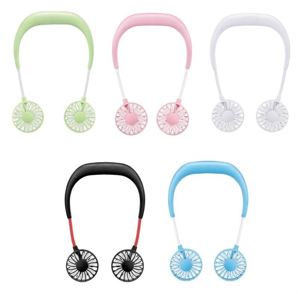 Portable Hand-free Neckband Fan