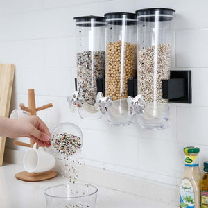 Kitchen Grain Distributor Storage Barrel Wall Hanging Sealed Storage Tank