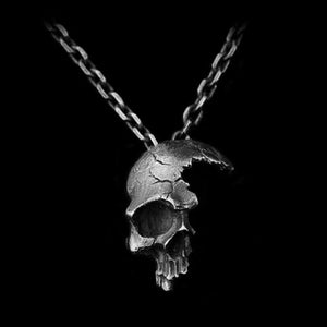 HANDMADE SHATTERED SKULL NECKLACE