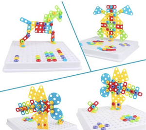 Children's Toy Electric Drill Screw Puzzle