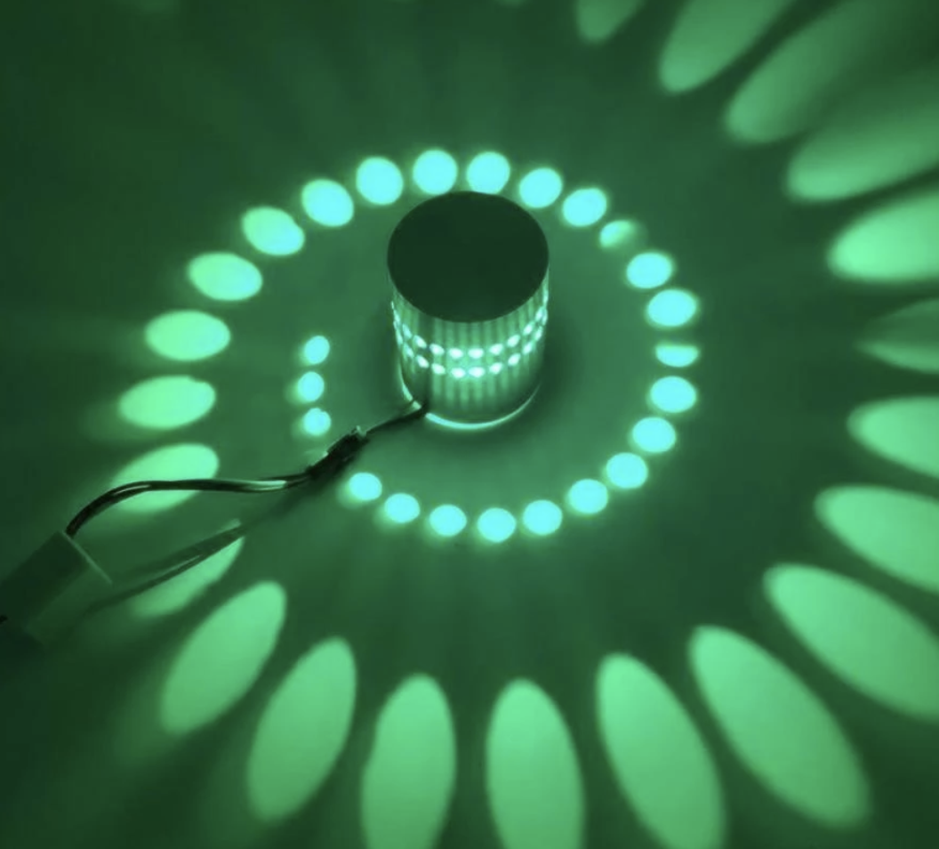 LED Spiral Wall Lamp